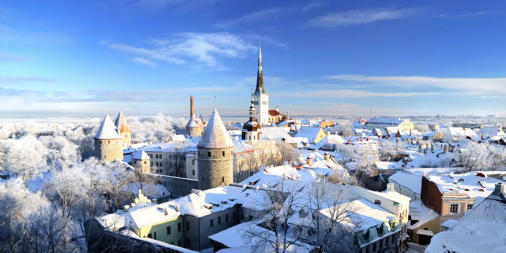 Fairy tale like Tallinn old town in winter