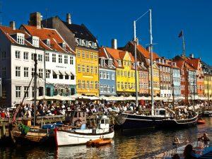 Nyhavn harbor front in Copenhagen