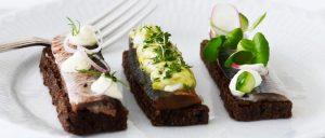 Classic Danish open-top herring sandwich