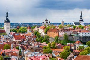 Toompea view, upper old town Tallinn