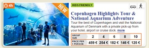 Copenhagen Highlights Tour & National Aquarium Adventure