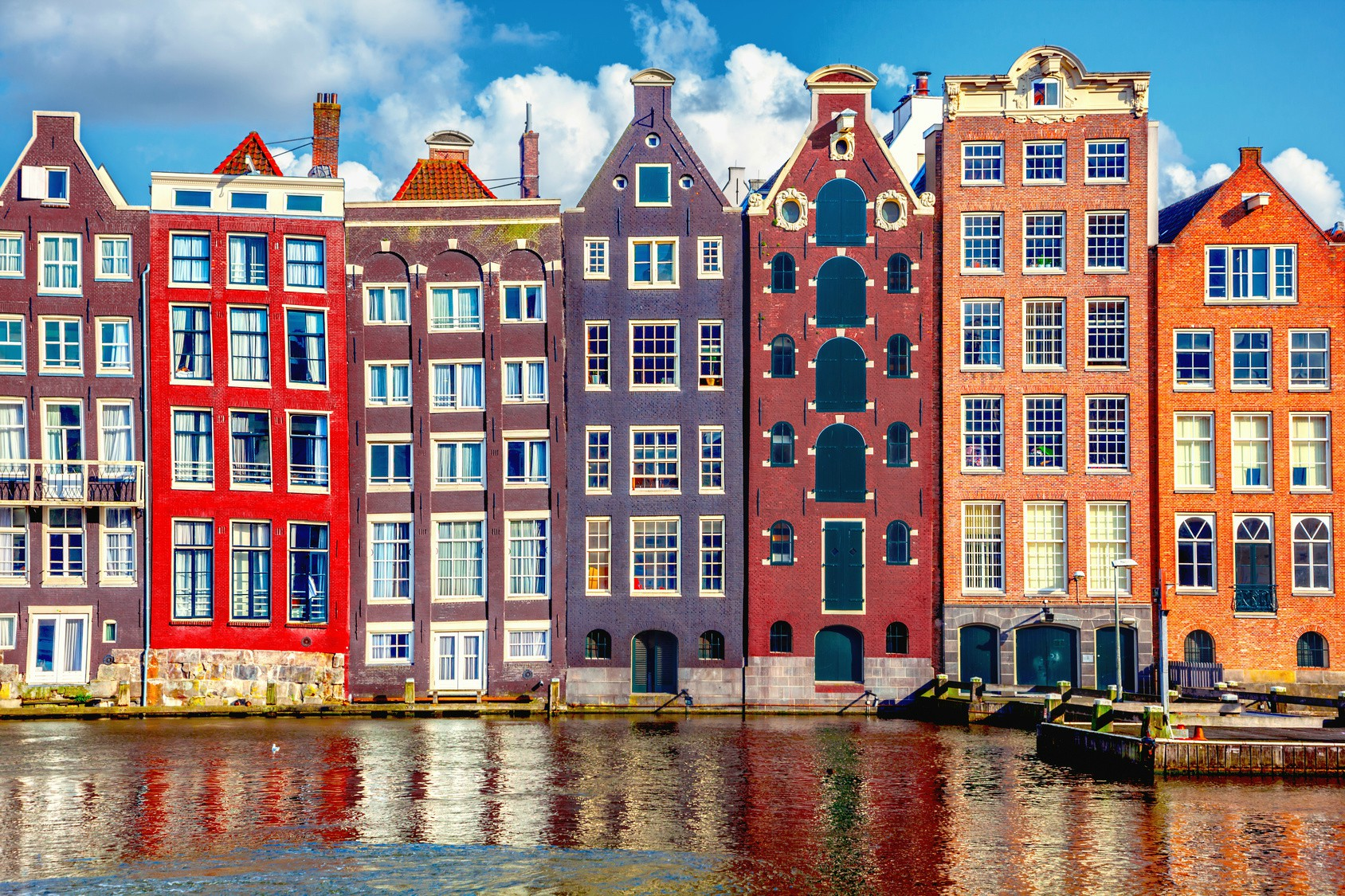Traditional gabled houses in Amsterdam