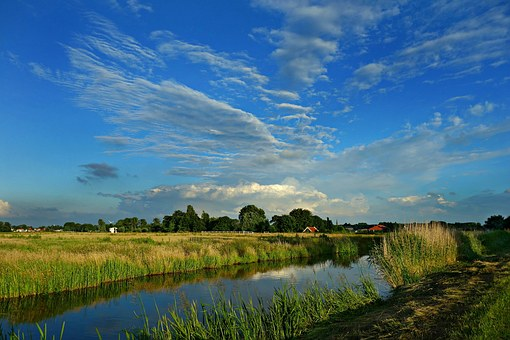 Scenic Dutch countryside and polders