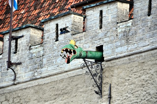 Tallinn Town Hall dragon-headed gargoyles
