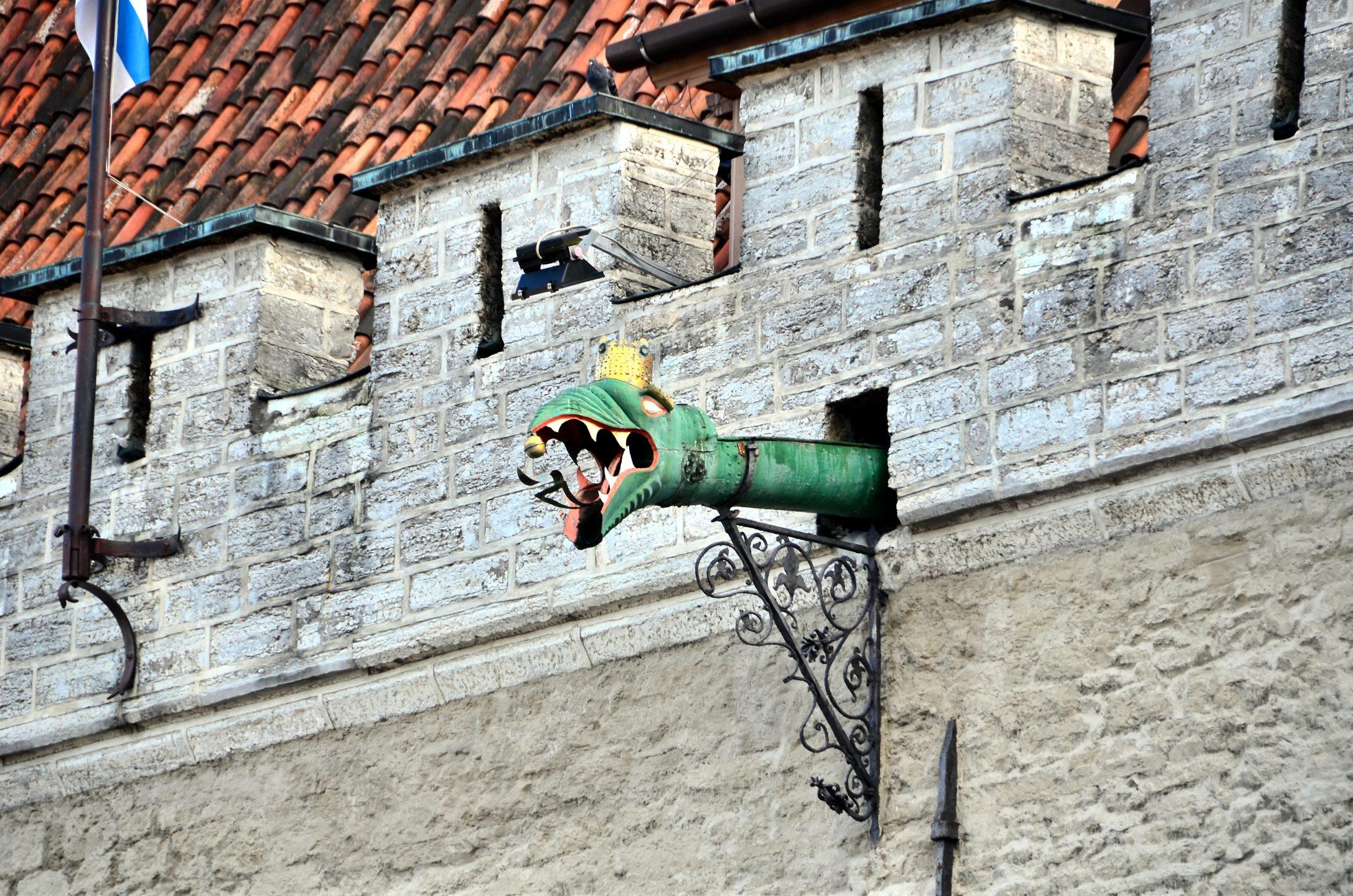 Tallinn Town Hall dragon-headed gargoyles